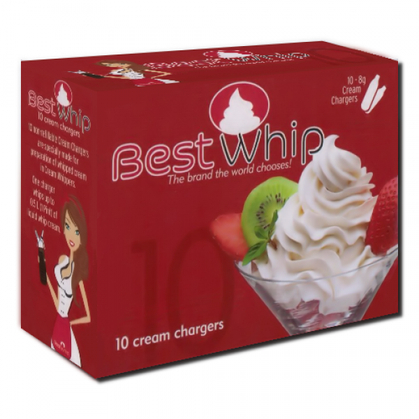 Bestwhip Cream Chargers N2O 10 Pack (10 Bulbs)
