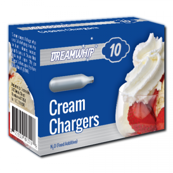 Dreamwhip Cream Chargers N2O 10 Pack (10 Bulbs)
