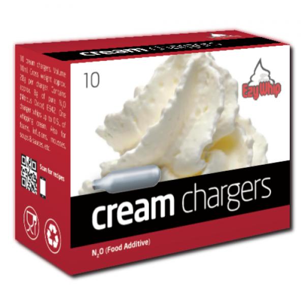 Ezywhip Cream Chargers N2O 10 Pack (10 Bulbs)