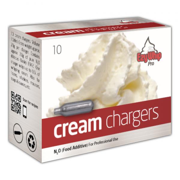 Ezywhip Pro Cream Chargers N2O 10 Pack x 36 (360 Bulbs)