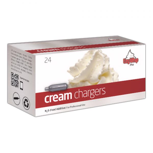 Ezywhip Pro Cream Chargers N2O 24 Pack x 25 (600 Bulbs)