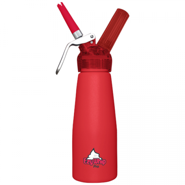 Ezywhip Pro Cream Whipper 0.5L Red & 10 Pack x 6 (60 Bulbs)