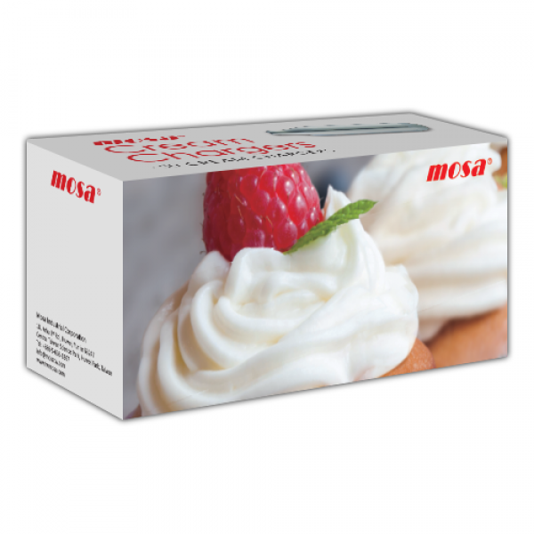 Mosa Cream Chargers N2O 50 Pack x 12 (600 Bulbs)