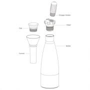 Mosa Soda Splash Part Bottle 0.75L
