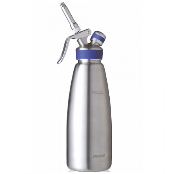 Mosa Professional Stainless Steel Cream Whipper 1.0L Blue